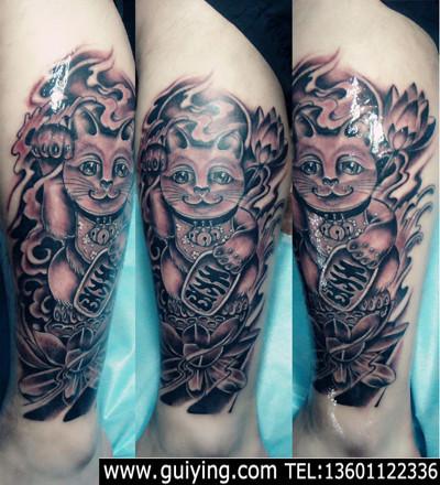 求一个纹身手稿 招财猫的图片
