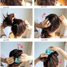 怎么用发簪盘头发图解图片