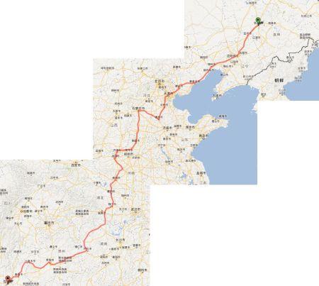 地囹kΈ�_k2288火车路线地图上的