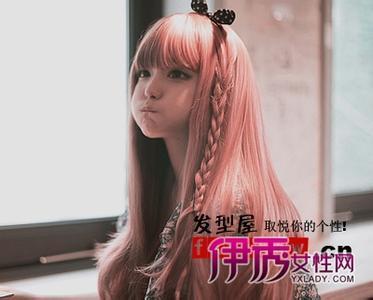 适合可爱女生的发型,没刘海的图片