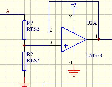 常用电压跟随器芯片_请问:lm358电压跟随器的输入端的两个电阻有什么作用?