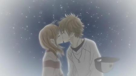动漫男女拥抱接吻图 动漫男女接吻图片唯美 唯美动漫男女拥抱图片 已