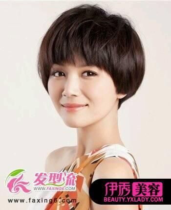 圆脸型适合什么样的发型?图片