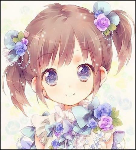 紫色可爱动漫女生_百度知道图片