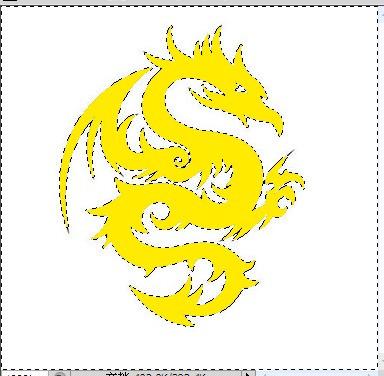 美图秀秀怎样把这个图片里的龙改为黄色