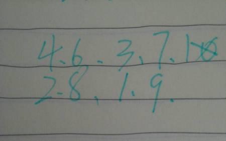 将1~9填入小三角形中,使四个小三角形组成的大三角形内数字之和为20图片