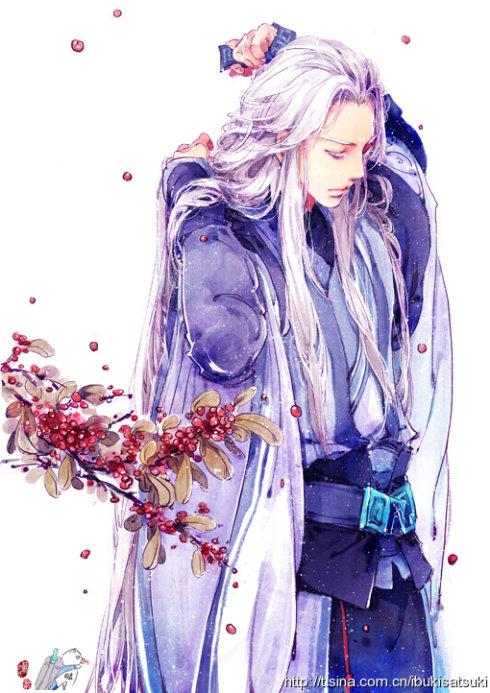 找一张紫眸白发,紫衣的古风图片,谢谢了! 百度知道
