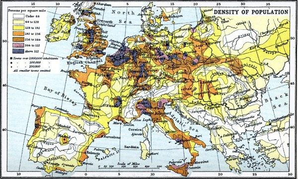 欧洲人口分布均匀么图片