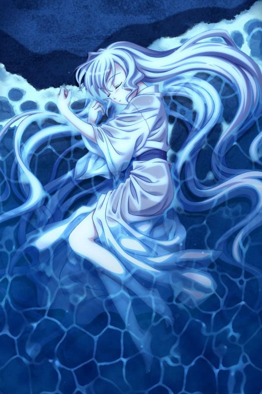 银发动漫少女图 唯美的