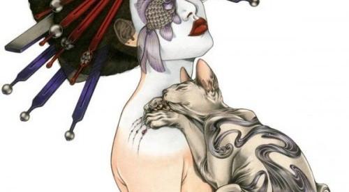 谁有类似这张动漫日本艺伎的图片