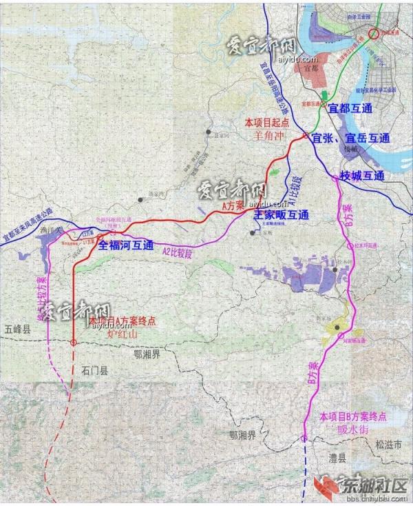 宜张高速公路路线图