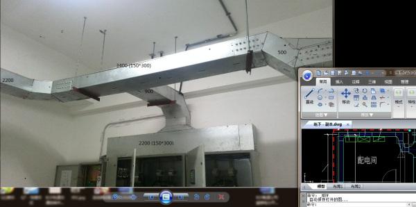 动力平面图上怎么用CAD绘制强电井桥架