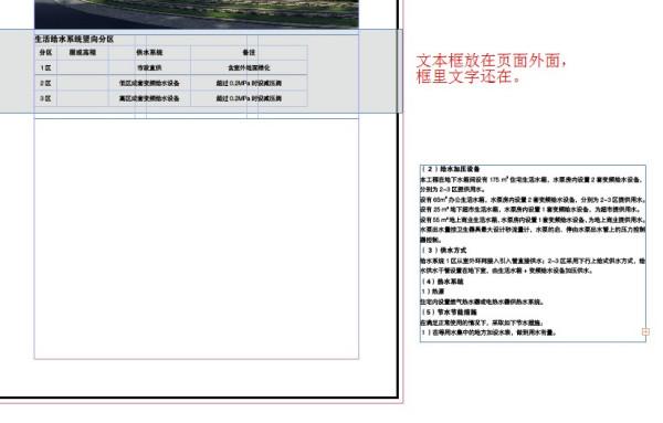 indesign CS6高手请进,文本框拉进页面就变空白,放在页面外或者图片