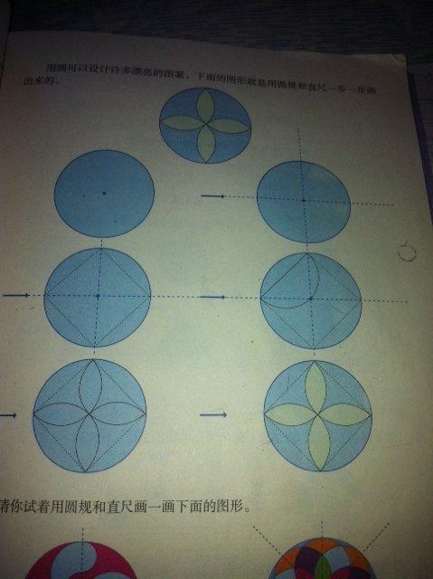 在这个圆里画出美丽的图案
