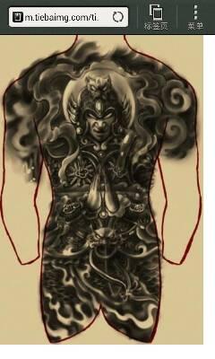 谁知道这个纹身手稿里面的人物是谁图片