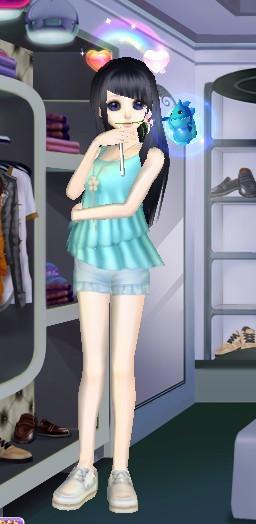QQ炫舞女生服装搭配 淡雅的类型的 就行