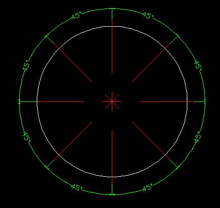 cad画等分圆 且标注 如这个图 怎么做
