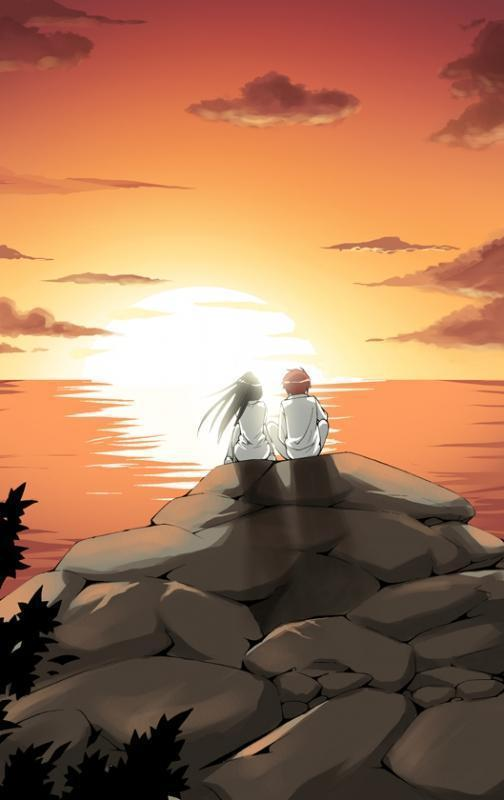 一个军人在夕阳下图片_哪里有关于夕阳下海边的恋人的图片 最好是动画的 画面好看点 ...