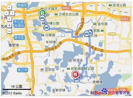 昆山161路,经过28站, 到达周庄汽车站   7、步行约690米,到达高清图片