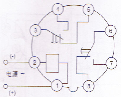 14S A时间继电器 220v 怎么和交流接触器 220v 接线 求实物接线图
