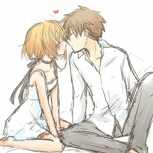 谁有动漫情侣接吻的图片,要高清的,做壁纸