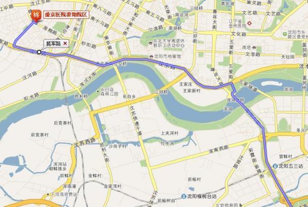 从辽阳开车到沈阳盛京医院滑翔区怎么走?在哪