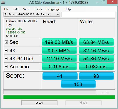 新买的影驰战将60G SSD固态硬盘,速度为什么这么慢啊?