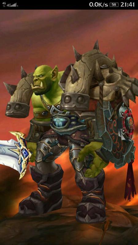魔兽世界25H地狱吼前天终于无限ROLL币428次后玛诺洛斯的獠牙肩图片