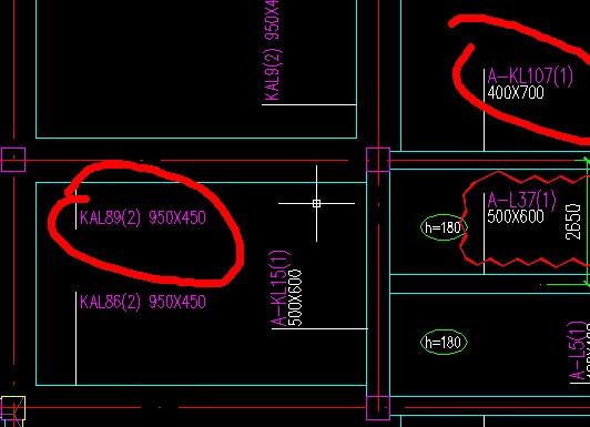 表示图纸中A-KL和KAL如下意思图纸dp头图片
