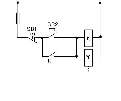 二位五通电磁阀控制气缸伸缩电路图片
