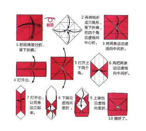 骤图解 超简单折纸盒子图解