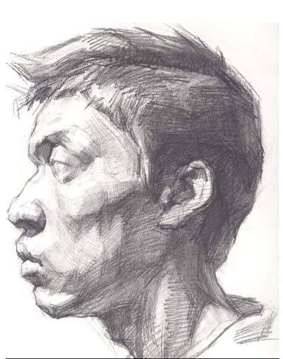 求简单的人物素描头像,急啊,赶作业图片