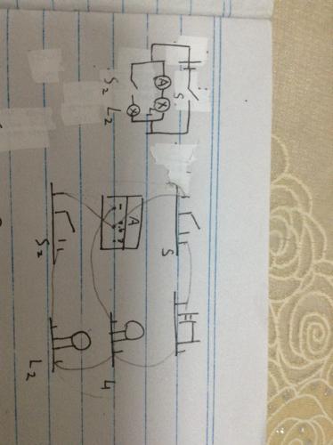 初三物理电路 ,我画的实物电路图对吗 ,错了帮我改一下