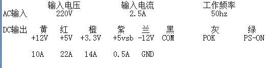 电脑电源图标是个牛头 但好像不是大水牛 俩字的想看下功率但...