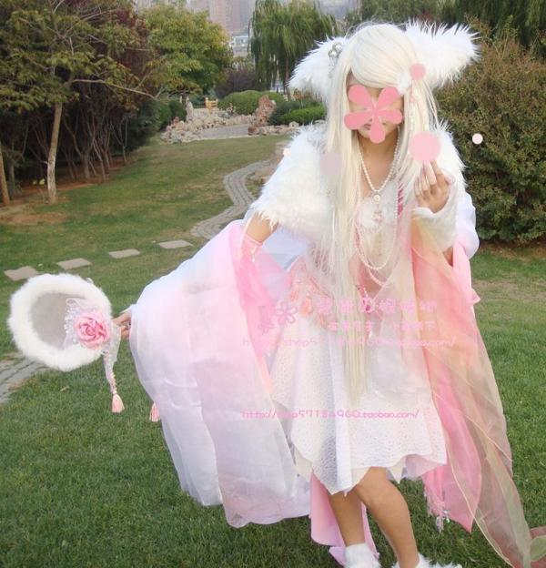 cosplay古装狐妖狐女白狐的靴子买哪种的 高清图片