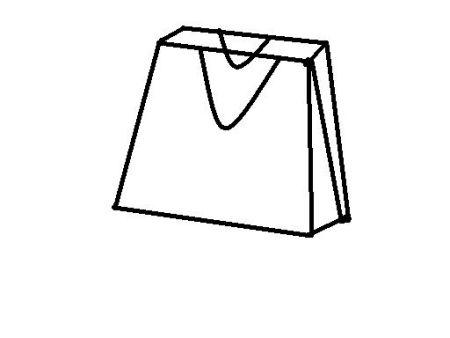 商场里出售一种梯形时尚纸袋,高为30cm,上底是22cm,前后两面一共纸图片