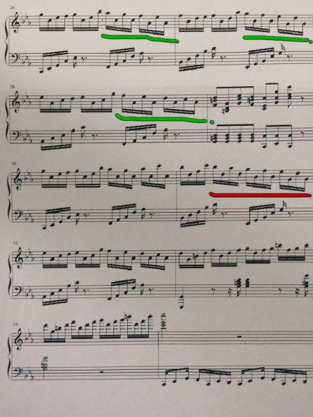 请问这个钢琴谱右手的指法?图片图片图片
