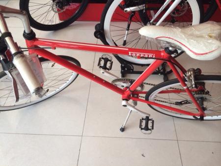 有没有人知道这款法拉利自行车的型号高清图片