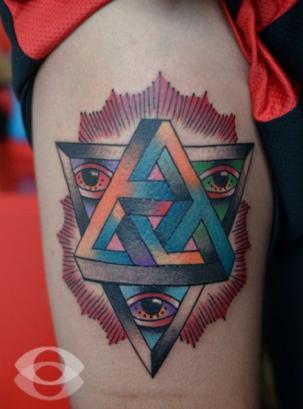三角图形纹身分享展示图片