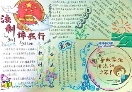 初中国家宪法日手抄报图片
