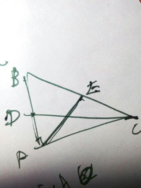 如何画三角形中线,要图片,谢谢!图片