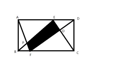 长方形abcd中,s△abp=40平方厘米,s△cdq=55平方厘米
