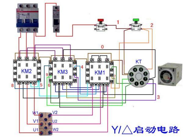 双速电机控制电路图下载 双速电机原理图 双速电机实物接线图