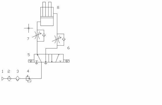 气缸调速阀_气缸流量调速阀_气缸调速接头_双作用气缸图片